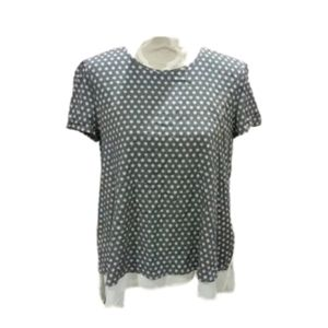 NWT Tristan double layer short sleeve blouse